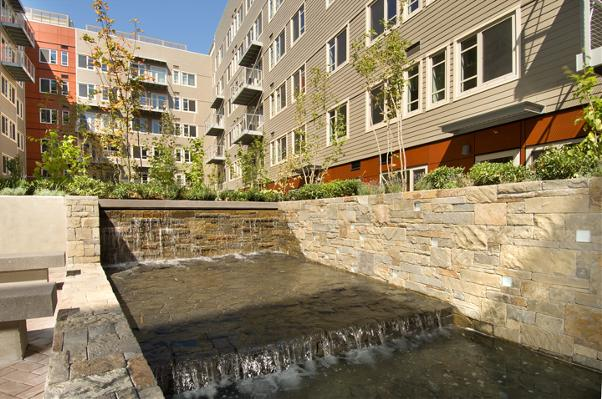 Courtyard with Water Feature